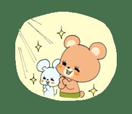 Cute! animal friends sticker #446329