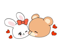 Cute! animal friends sticker #446352