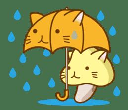 Mushroom-cat sticker #447226