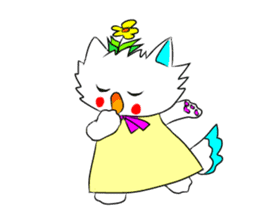 Pudding-chan kitten sticker #449668