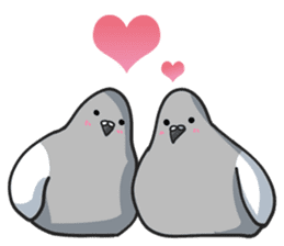 LOVE pigeons sticker #451003