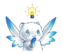 Winged Cat sticker #451499