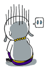 Kung-Fu Dog Hendrix sticker #451808