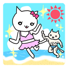 Macho Cat in Summer <2nd Collection> sticker #452229