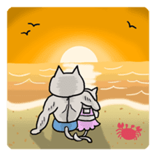Macho Cat in Summer <2nd Collection> sticker #452230