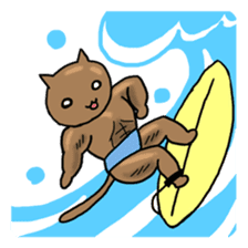 Macho Cat in Summer <2nd Collection> sticker #452260
