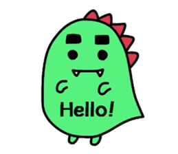 Bearish dinosaur Alex(English ver.) sticker #452266