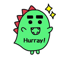 Bearish dinosaur Alex(English ver.) sticker #452277