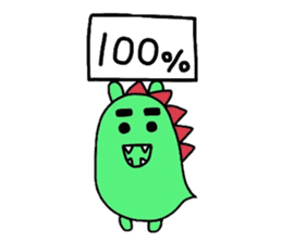 Bearish dinosaur Alex(English ver.) sticker #452301