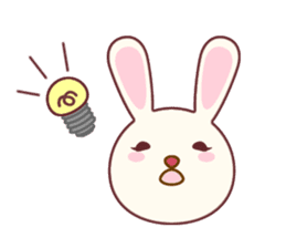 Fussy Rabbit  Animal to become the habit sticker #452707
