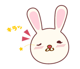 Fussy Rabbit  Animal to become the habit sticker #452709