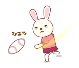Fussy Rabbit  Animal to become the habit sticker #452722