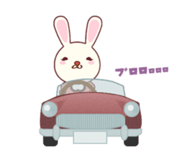 Fussy Rabbit  Animal to become the habit sticker #452724