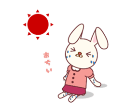 Fussy Rabbit  Animal to become the habit sticker #452736