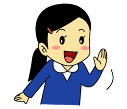 Students stickers - Girl sticker #453745