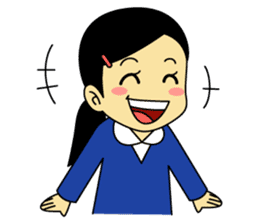 Students stickers - Girl sticker #453747