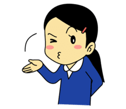 Students stickers - Girl sticker #453749