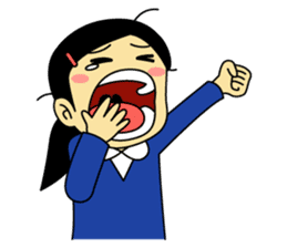 Students stickers - Girl sticker #453755