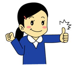 Students stickers - Girl sticker #453756
