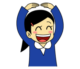 Students stickers - Girl sticker #453760