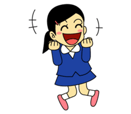Students stickers - Girl sticker #453762