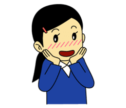 Students stickers - Girl sticker #453773