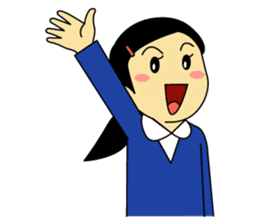Students stickers - Girl sticker #453775