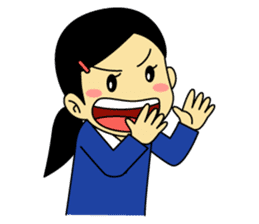 Students stickers - Girl sticker #453777