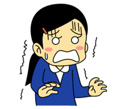 Students stickers - Girl sticker #453783