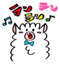 chating alpaca sticker #453786