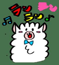 chating alpaca sticker #453786