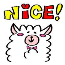 chating alpaca sticker #453796