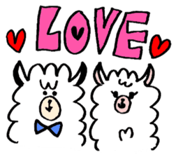 chating alpaca sticker #453810