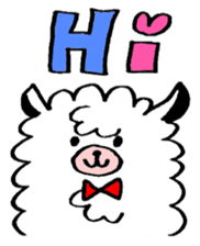 chating alpaca sticker #453813
