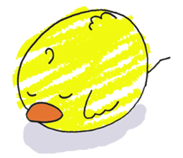 Yellow bird of the happiness sticker #454145