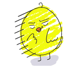 Yellow bird of the happiness sticker #454146