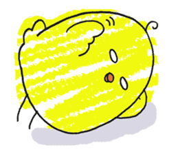 Yellow bird of the happiness sticker #454148