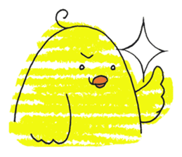 Yellow bird of the happiness sticker #454151