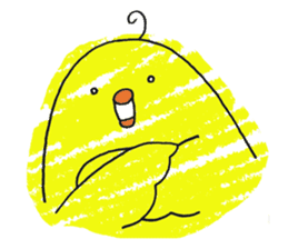 Yellow bird of the happiness sticker #454153