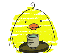 Yellow bird of the happiness sticker #454155