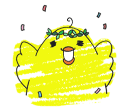 Yellow bird of the happiness sticker #454156