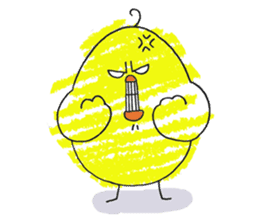 Yellow bird of the happiness sticker #454160