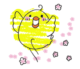 Yellow bird of the happiness sticker #454168