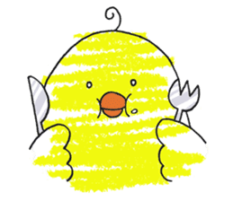 Yellow bird of the happiness sticker #454171