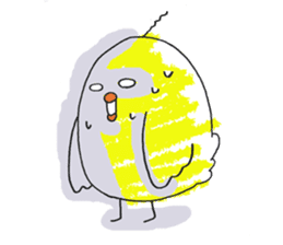 Yellow bird of the happiness sticker #454173