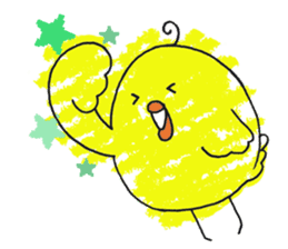 Yellow bird of the happiness sticker #454174
