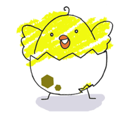 Yellow bird of the happiness sticker #454175