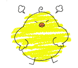 Yellow bird of the happiness sticker #454176