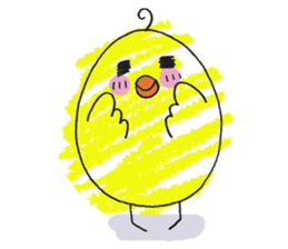 Yellow bird of the happiness sticker #454177