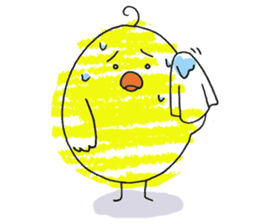 Yellow bird of the happiness sticker #454182
